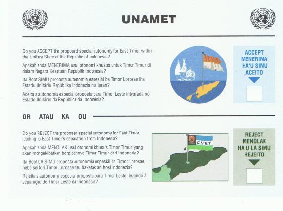 1999 East Timor voting ballet.