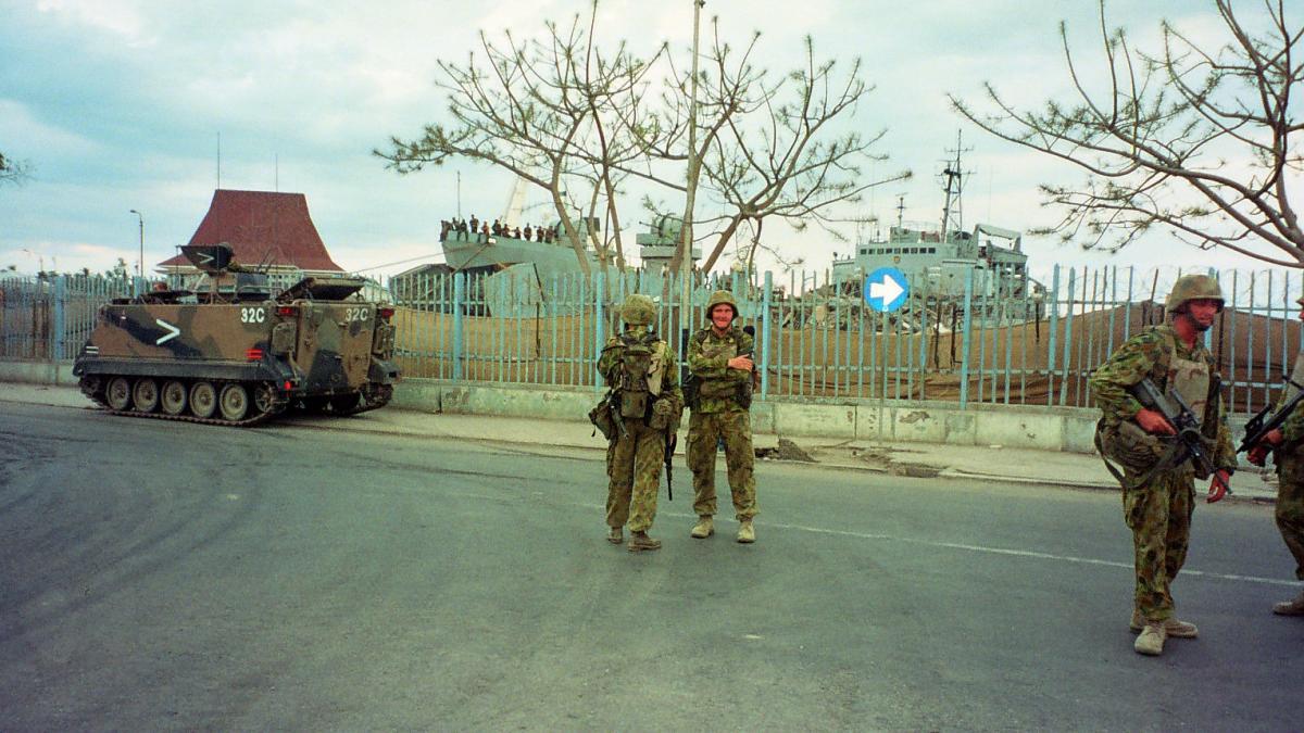 Military in East Timor.